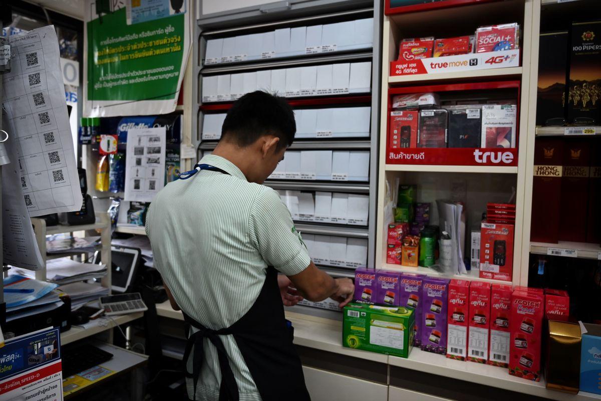 cashier working