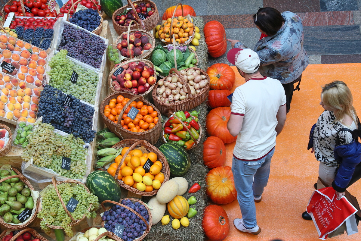 pumpkins and veggies