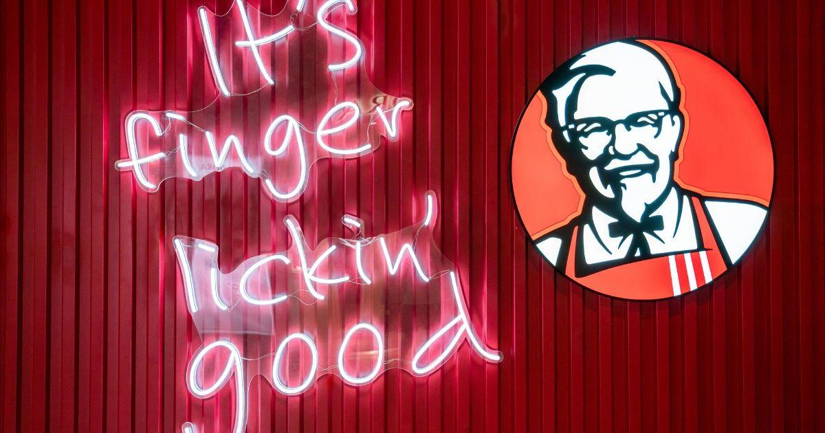 KFC logo seen at Shanghai Hongqiao International Airport