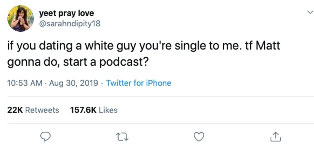 podcast tweet