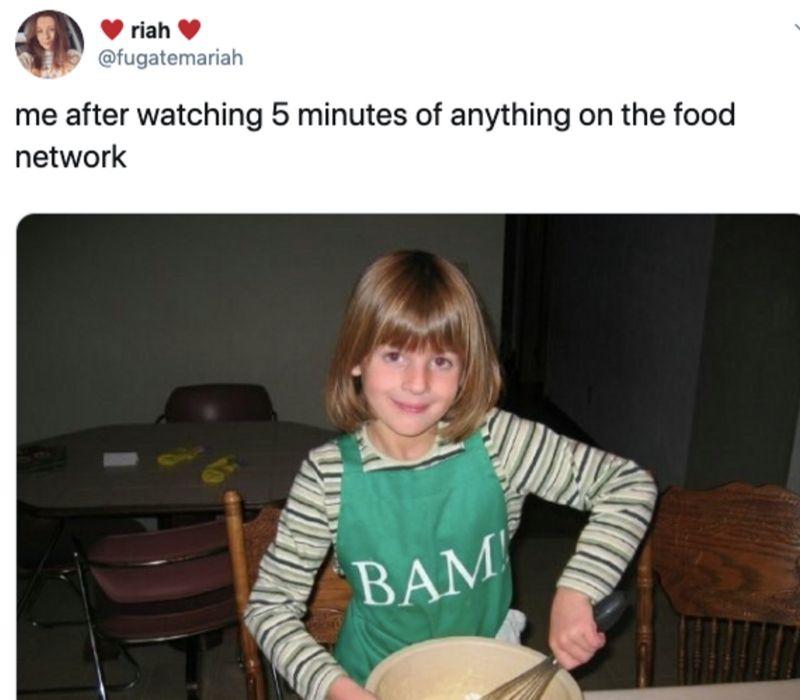 kid cooking pancakes