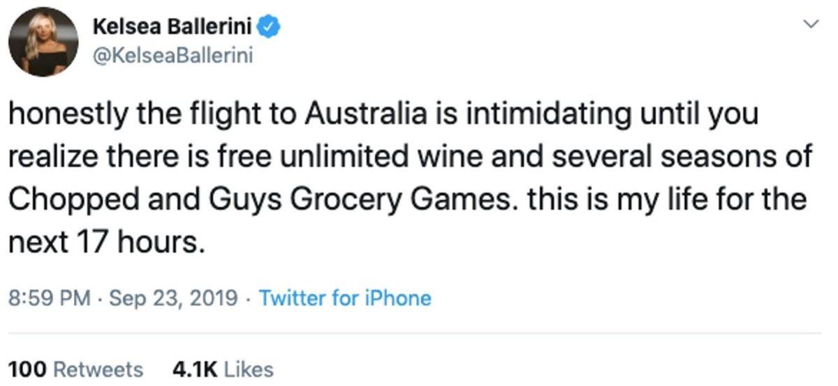 flight to australia tweet