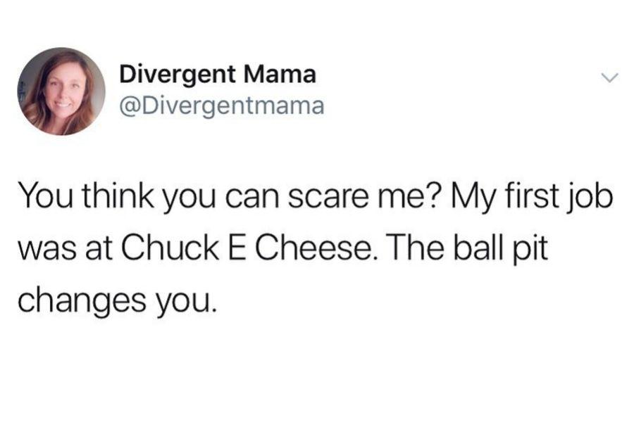 chuck e cheese tweet about ball pit