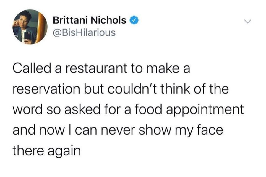 calling restaurant reservation a food appointment