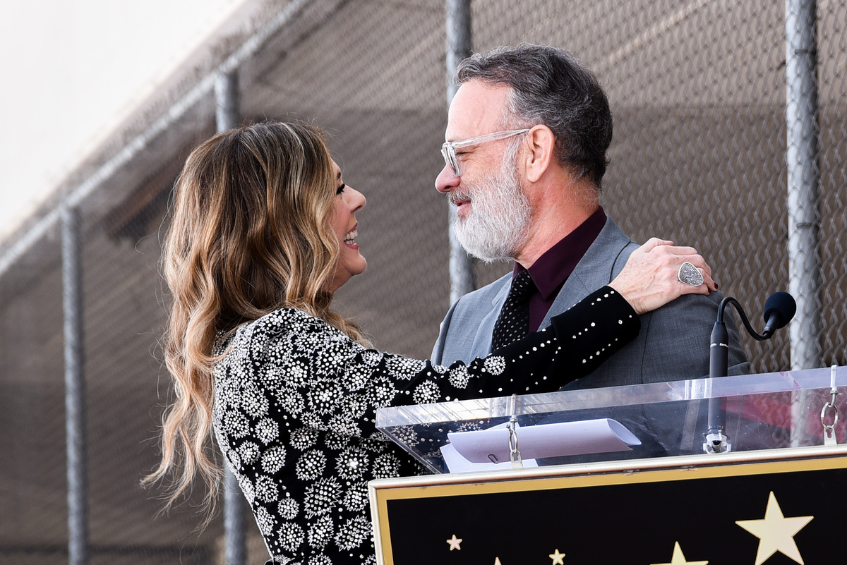 tom hanks and rita wilson at wilson's star ceremony