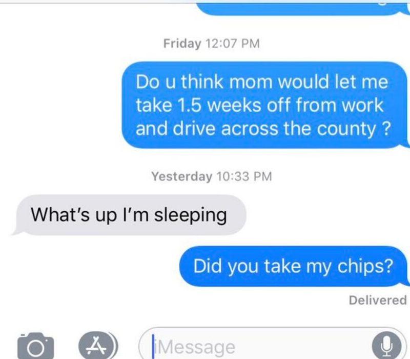 chips sleeping