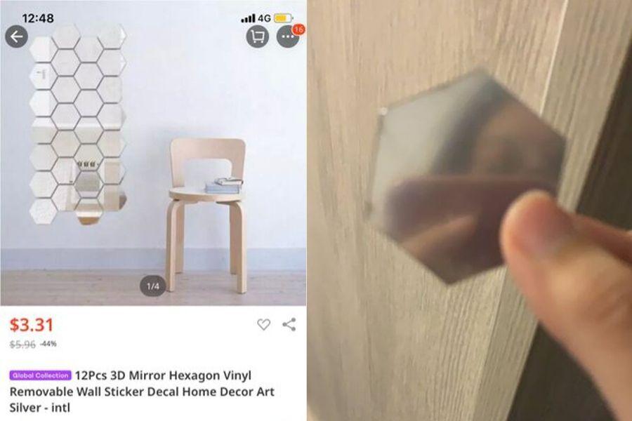 mirror hexagon