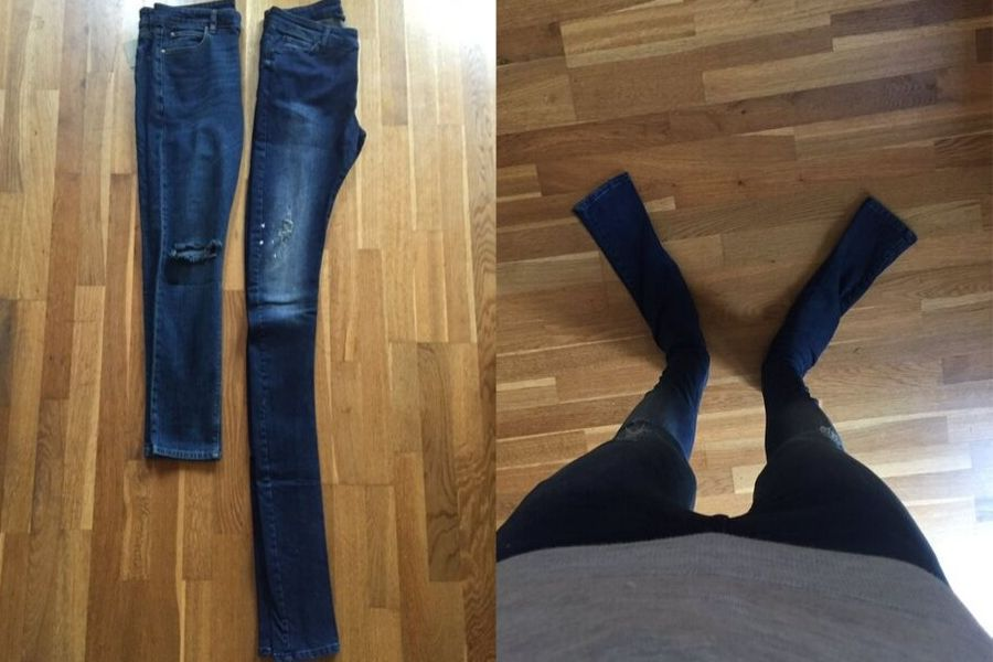 jeans long way too long