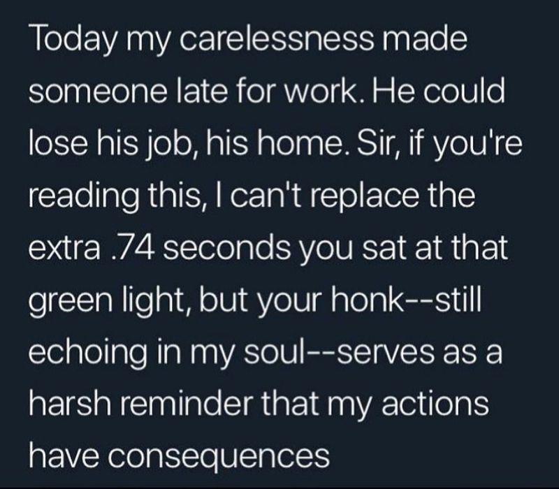 tweet about honking at green light