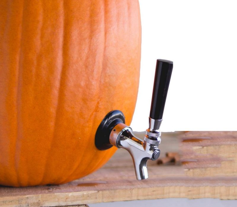 pumpkin keg tap for beverages
