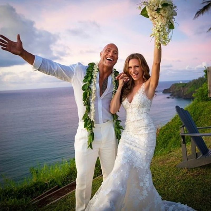 dwayne johnson wedding photo