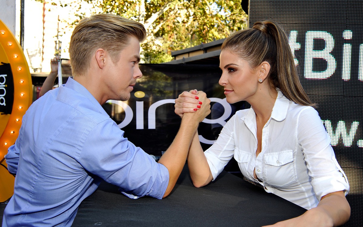 Derek Hough And EXTRA Host Maria Menounos Partnr With Bing To Challenge Nation To