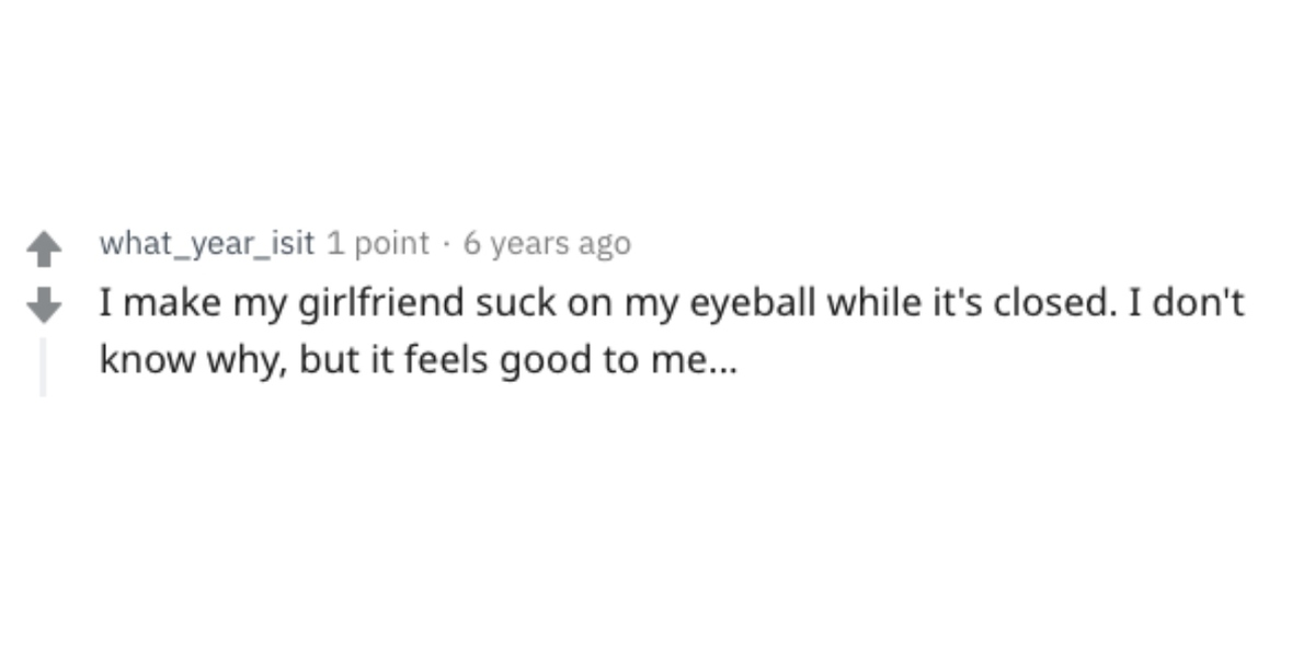 sucking on eyeball