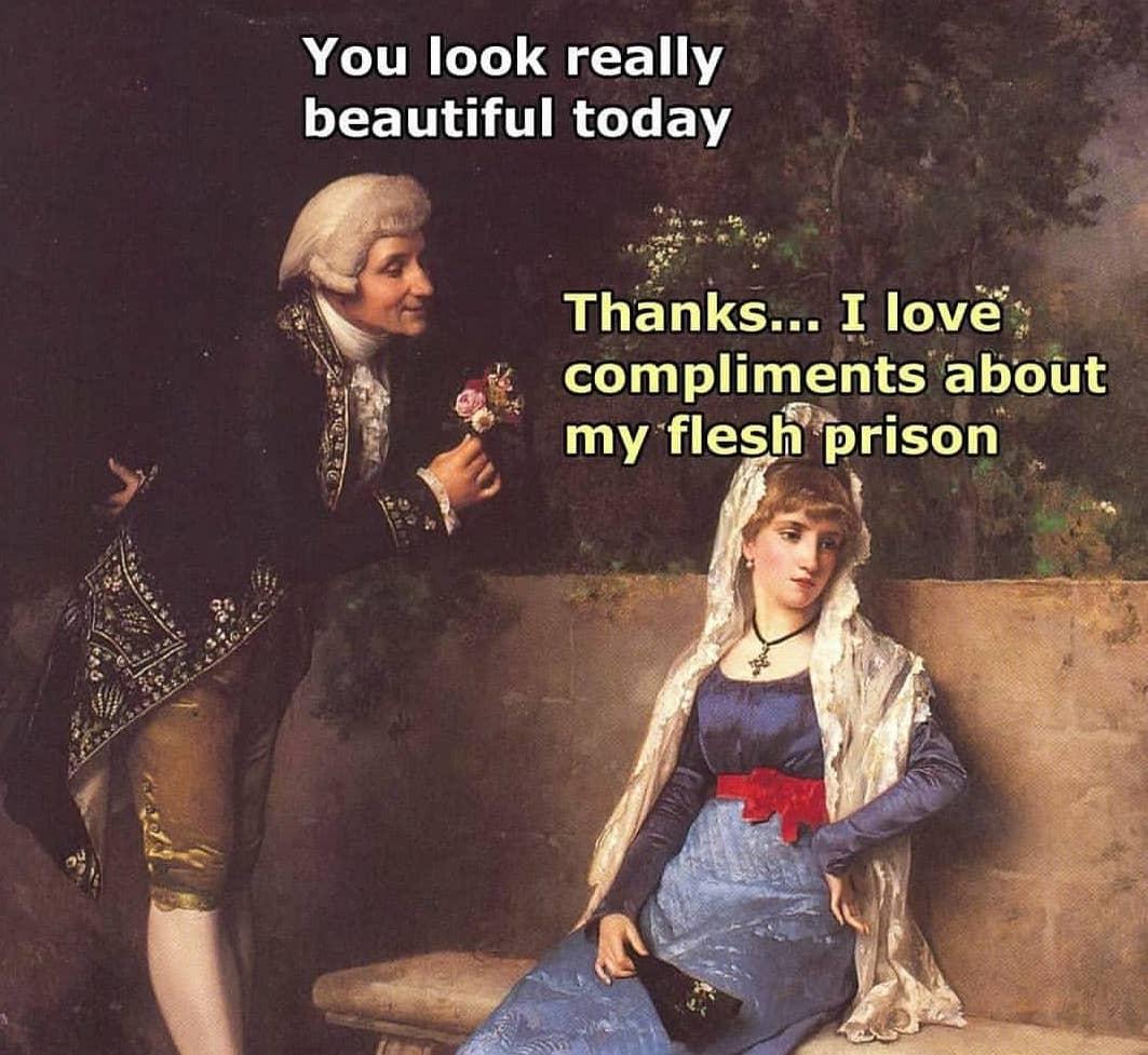 Guy tells girl she looks beautiful and she replies