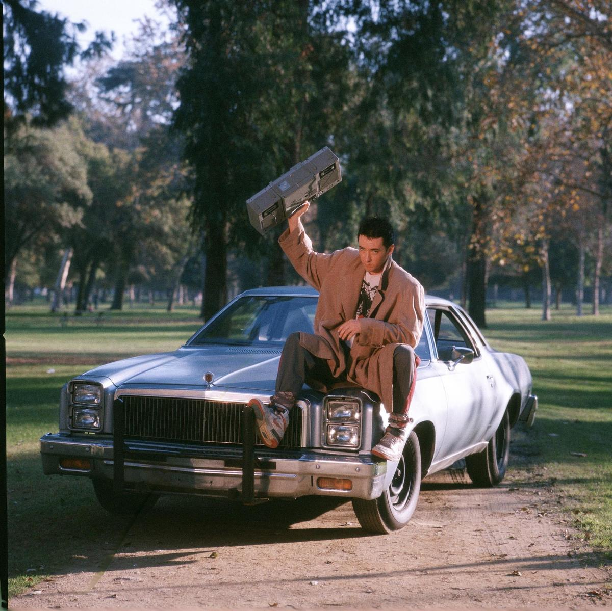 john cusack holding a boombox