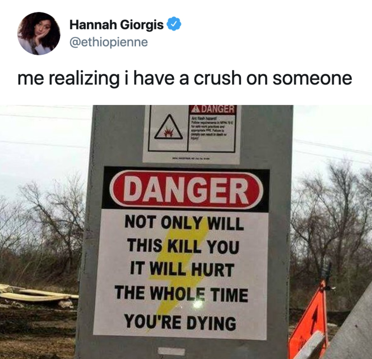 having a crush on someone