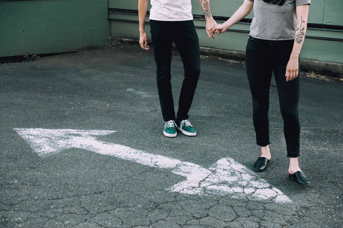 holding hands two-way street