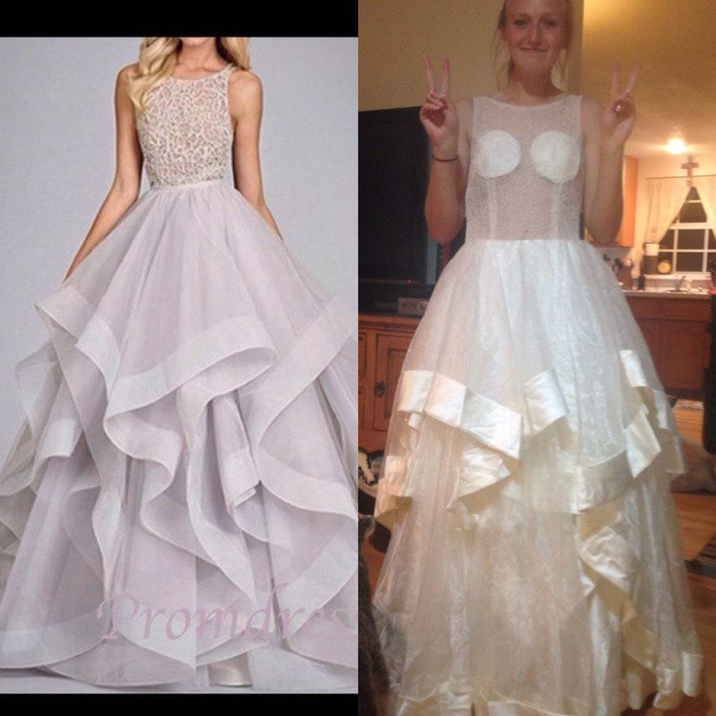 prom dress that looks nothing like the picture