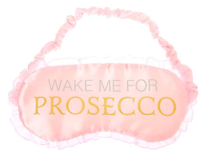 wake me for prosecco face mask