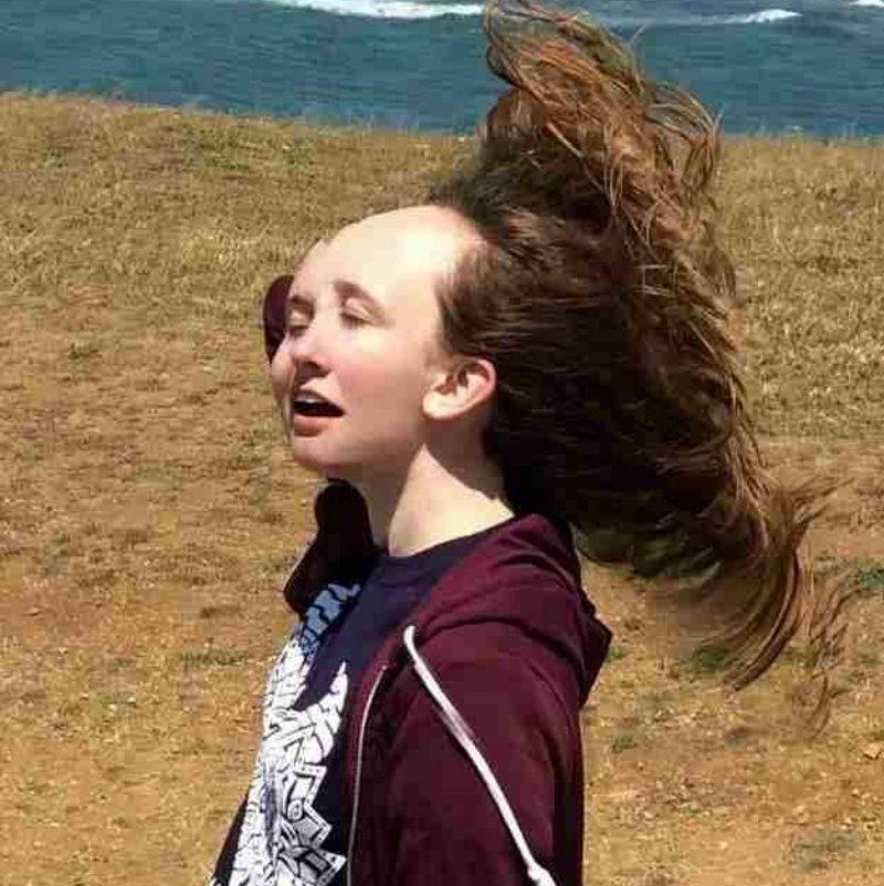 a hair flip gone wrong