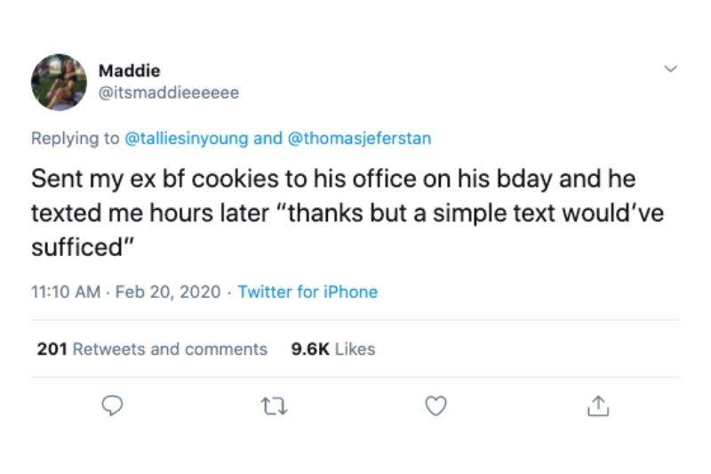 sending cookies for bday