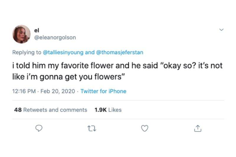no flowers for you