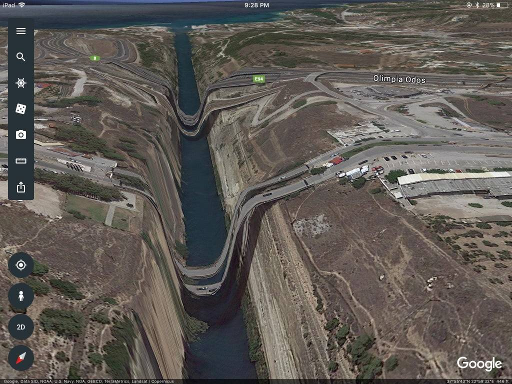 fake bridges on google