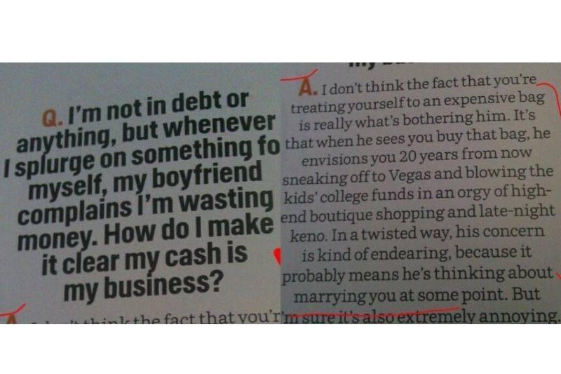 boyfriend judging money habits