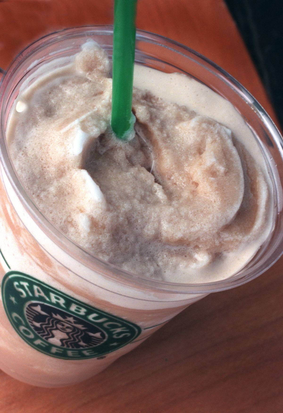 A regular Frappuccino (frothy and icey)
