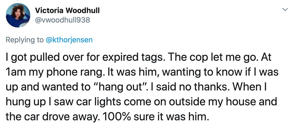 a cop tried to hit on someone he pulled over