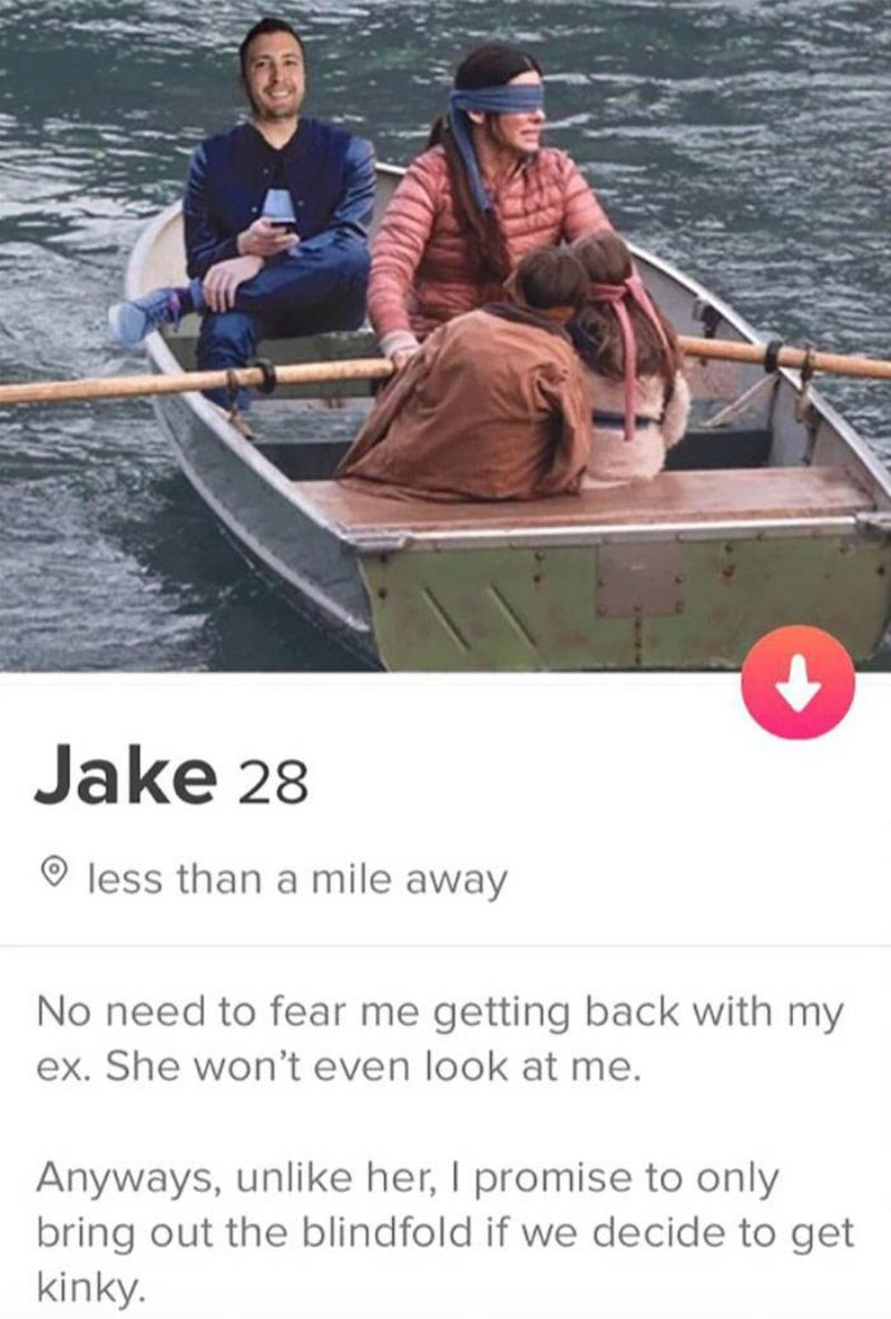 bird box tinder profile