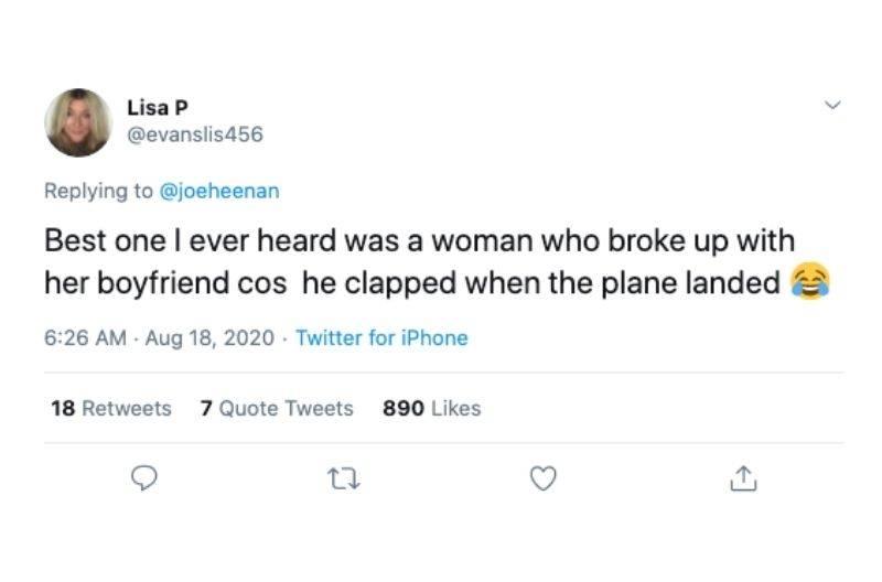 clap when the plane lands break up