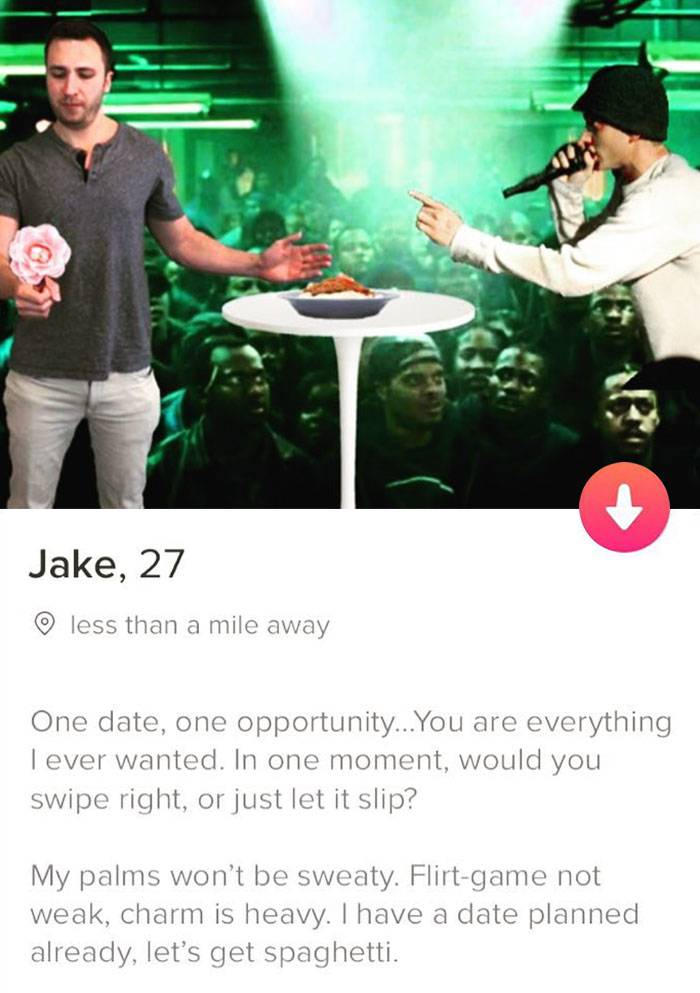 tinder profile as eminem
