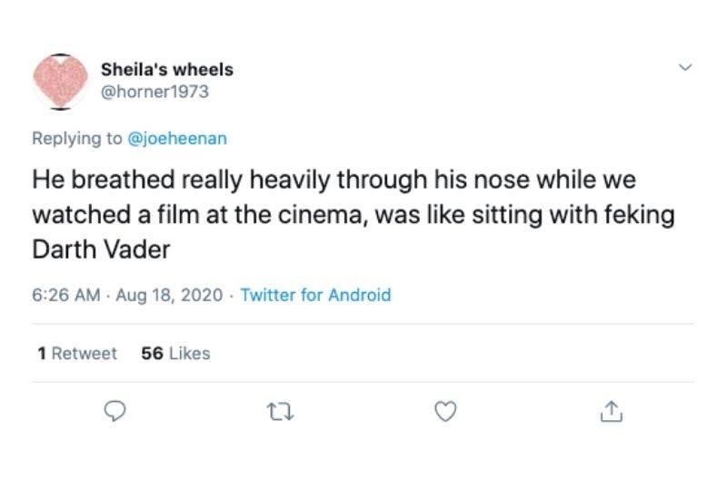 heavy breathing in a movie