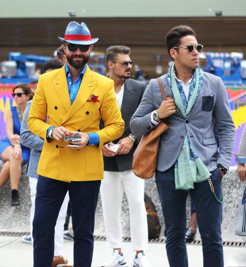 men dressed up to the max