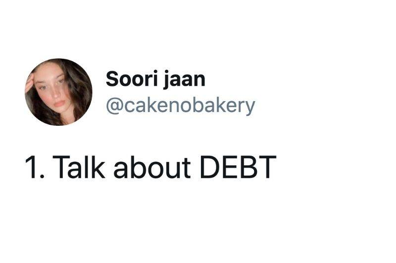 the first point is talking about debt
