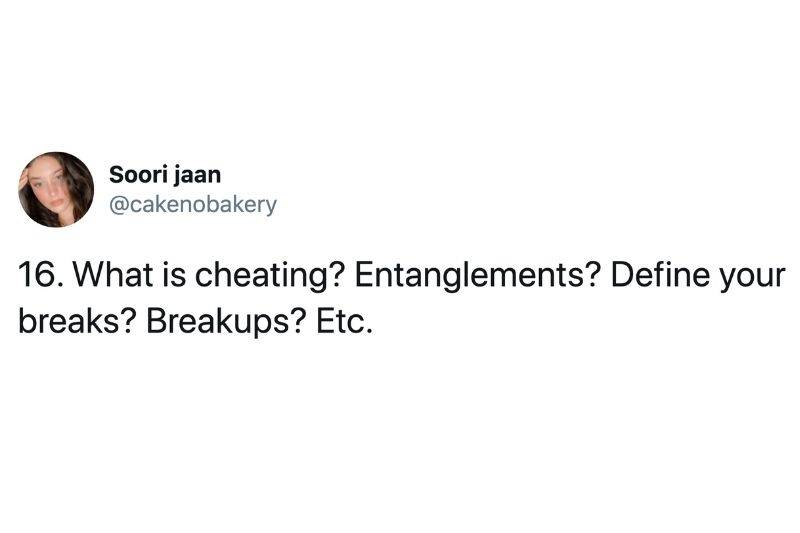 defining what cheating is to you