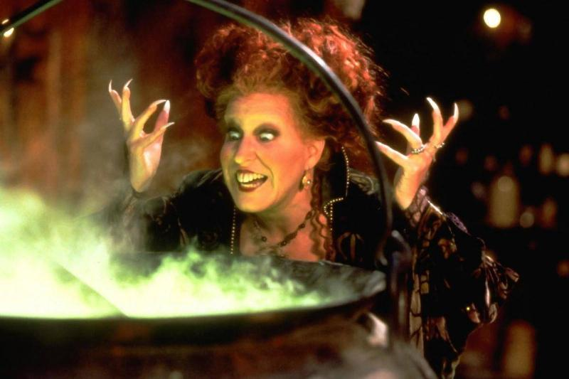 still of winifred over cauldron with green contents