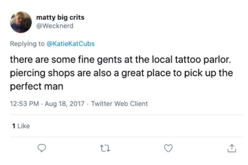 tattoo parlor to meet men