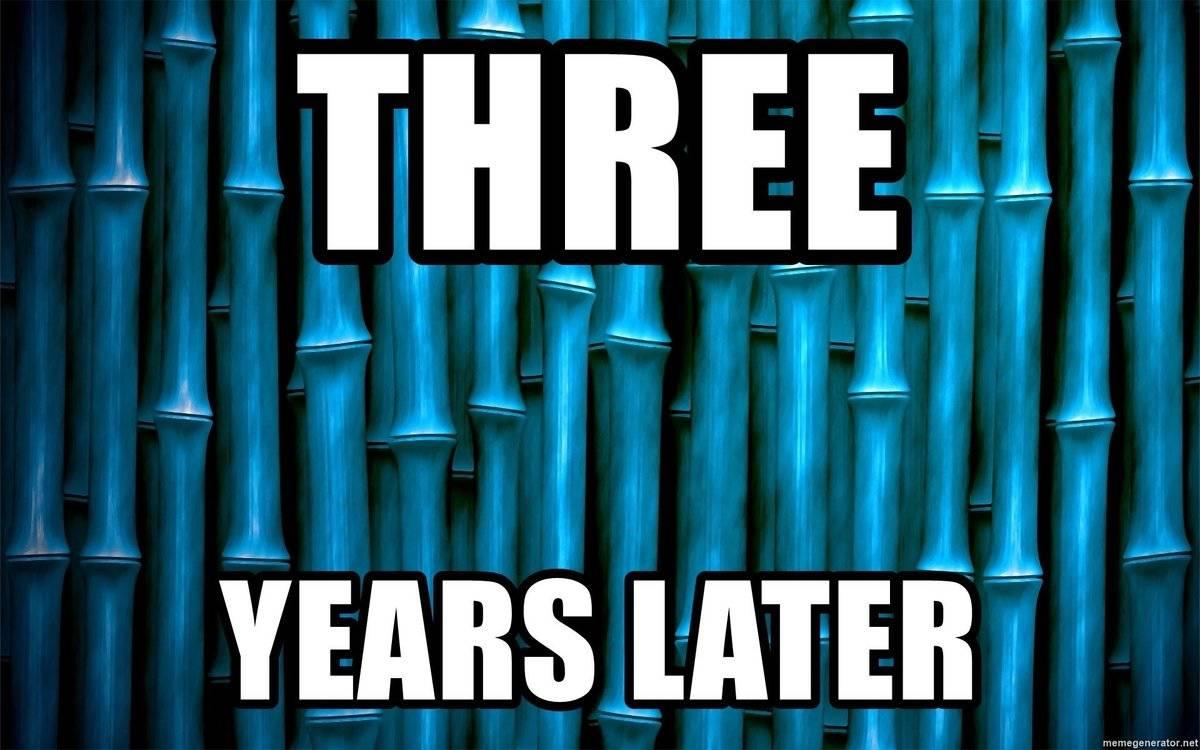 spongebob 3 years later meme