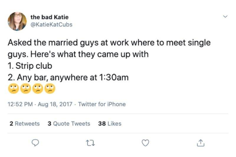 where to meet men asking twitter