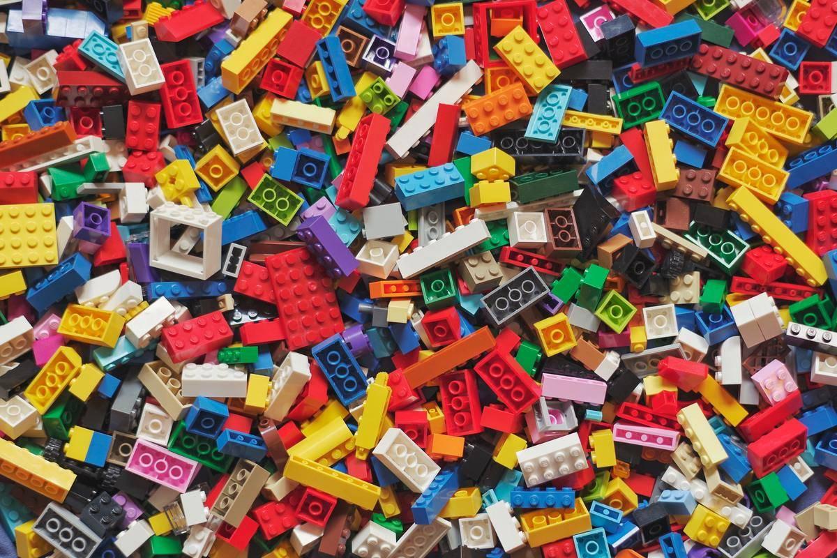 assortment of legos