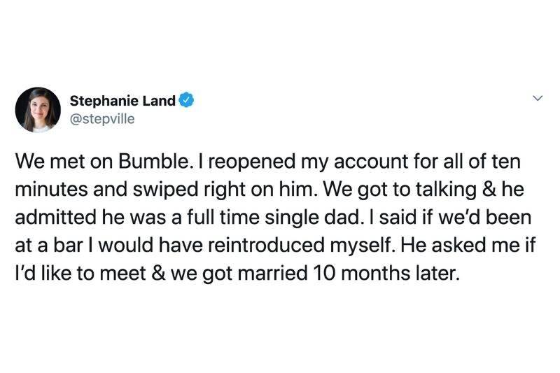 couple met on Bumble