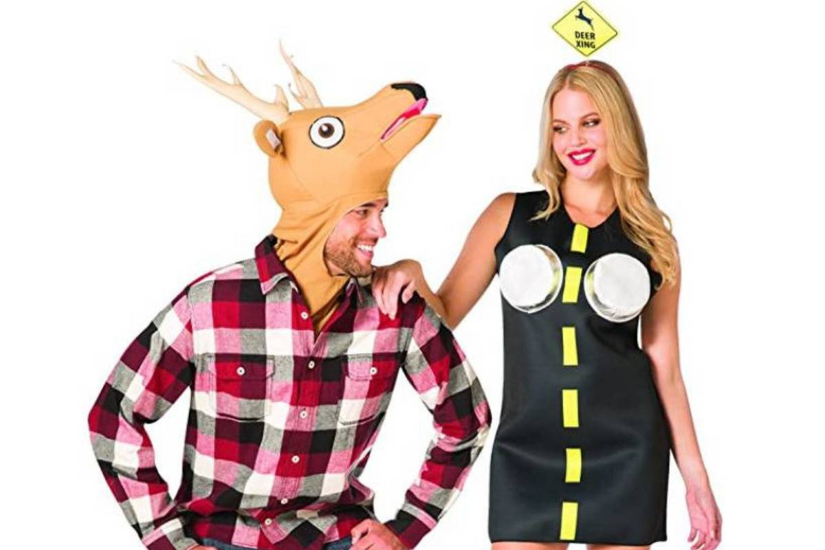 Deer in the headlights couples costume