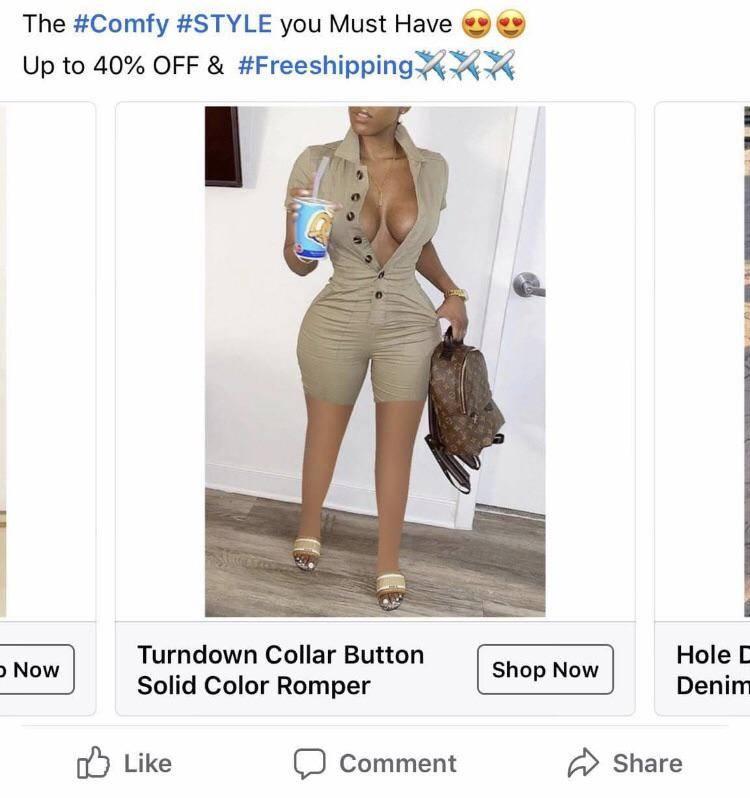 facebook model has no knees