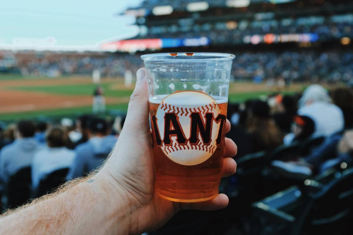 beer cup at baseball game