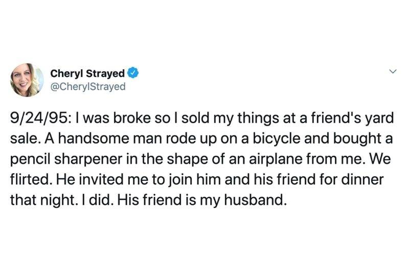 Person met her husband while on a date with someone else