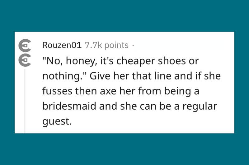 cheaper shoes or nothing for wedding