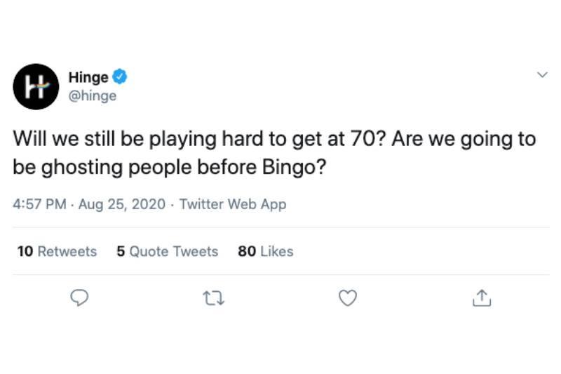 hard to get hinge tweet