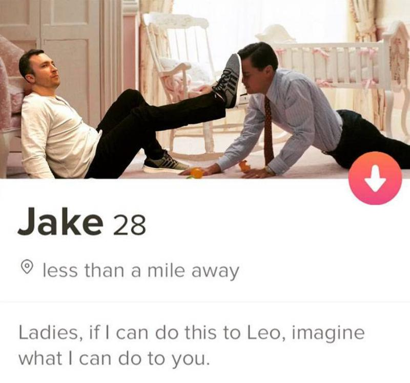 wolf of wall street tinder profile